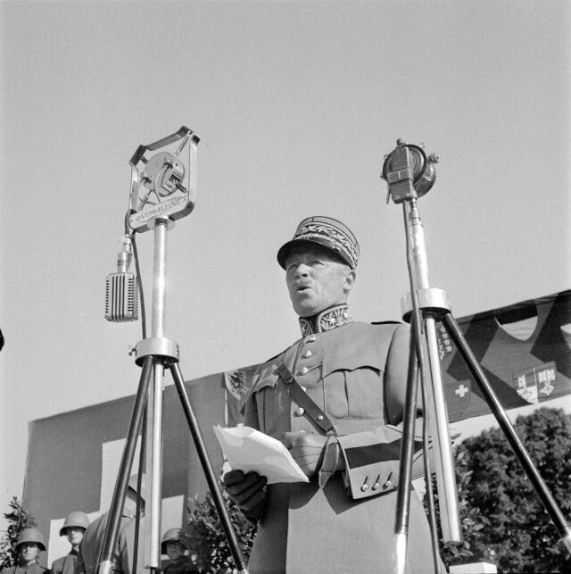 Ansprache von General Guisan anlässlich der Schweizer Armeemeisterschaft in Thun
