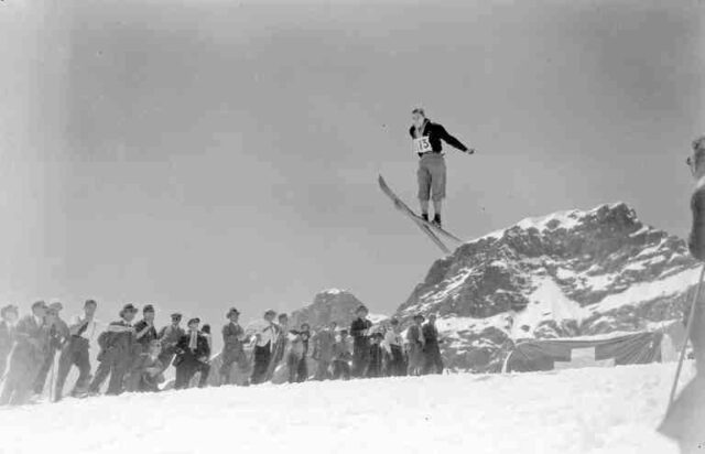 Wintersport am Jungfraujoch: Skispringen
