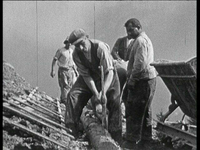 Umbau Bergstation Braunwaldbahn ab Herbst 1932