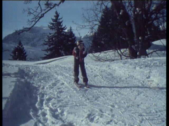 Familie Schönwetter, Skifahren Braunwald.