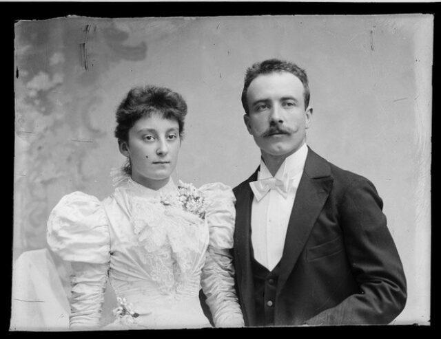 Valentino Monotti e la moglie Gioconda il giorno delle nozze