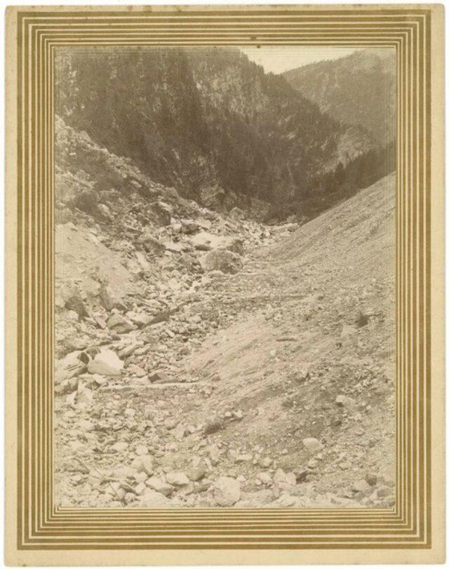 """""""Le trasversali al pié della frana di Campo 1890"""""""