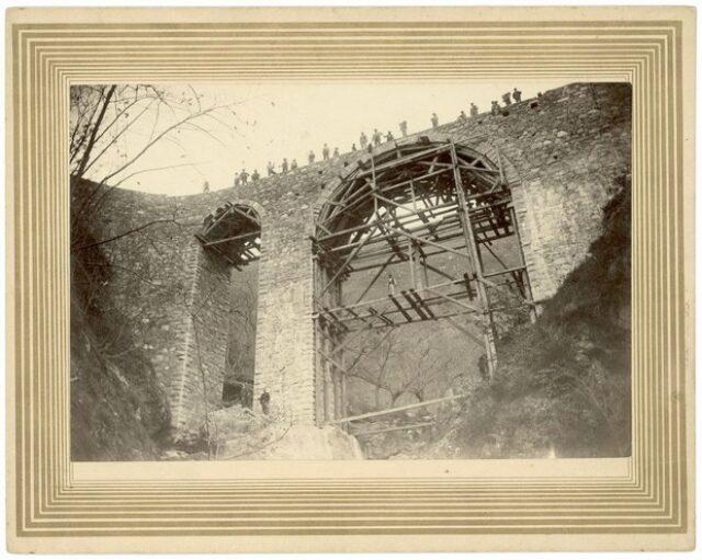 Ponte sulla Val Chiara in costruzione
