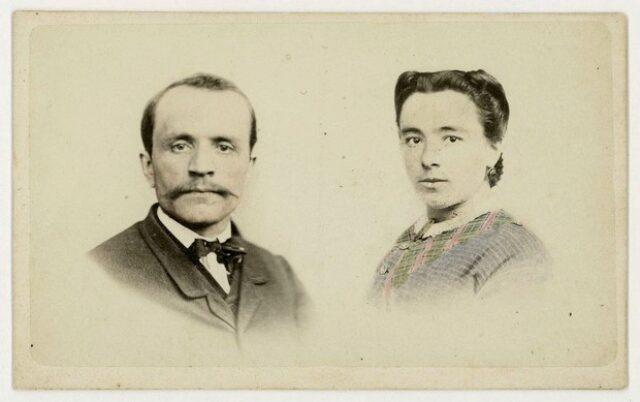 Angelo Monotti e la moglie Maria Maestretti