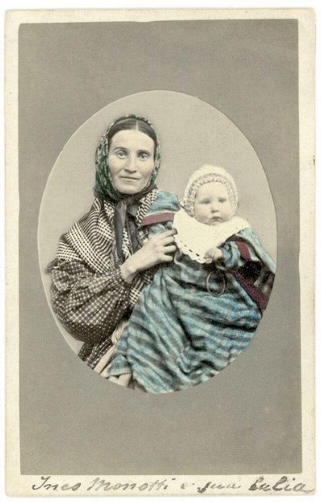 Ines Monotti e la figlia Lalia