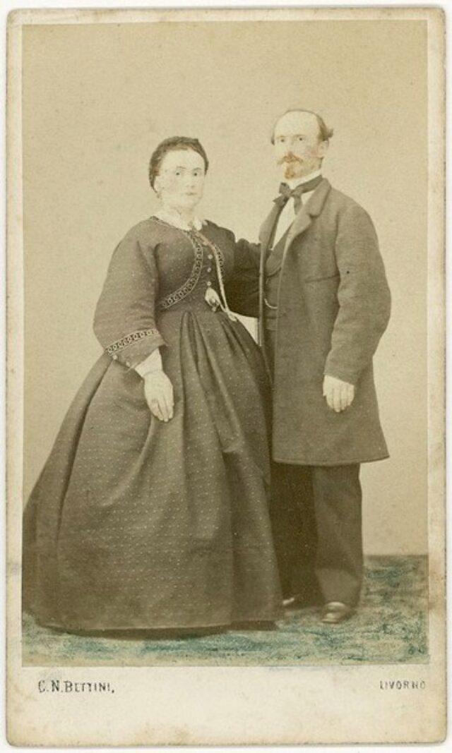 Alessandro Monotti e la moglie Clementina nata Cavalli