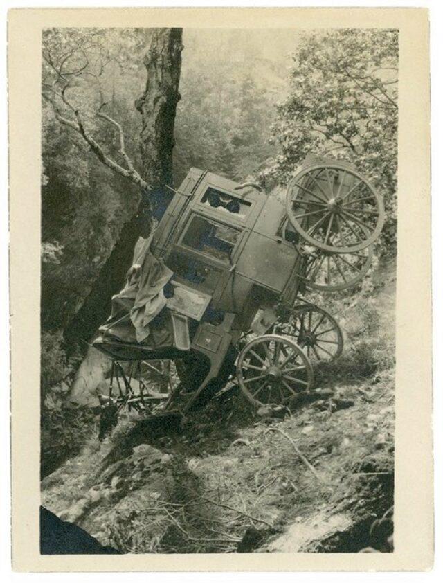 Incidente accaduto alla diligenza a Collinasca