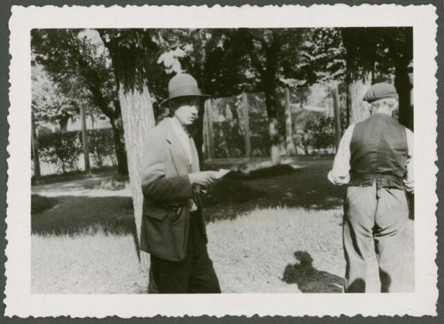 Due pazienti nel parco