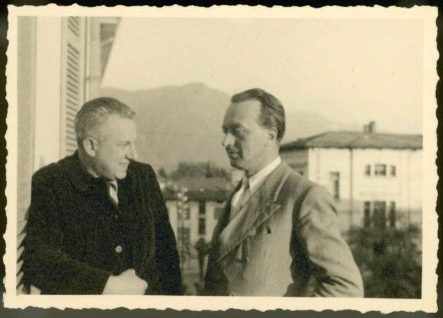 Lilia e Morandi sul balcone di casa Canevascini