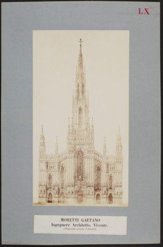 Facciata del Duomo di Milano disegnata da Gaetano Moretti