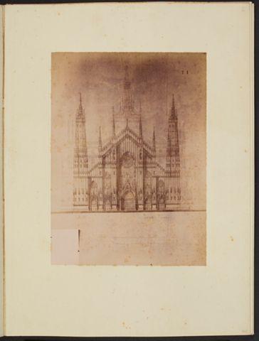 Facciata del Duomo di Milano disegnata da ignoto