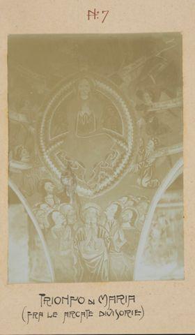 Trionfo di Maria. Affresco della chiesa di San Carlo Borromeo ad Acquarossa
