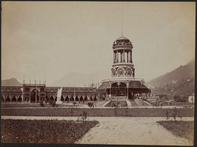 Veduta della cantina della festa e del tempio dei premi del Tiro a segno federale