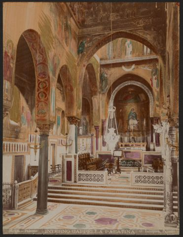 Interno della Cappella Palatina a Palermo