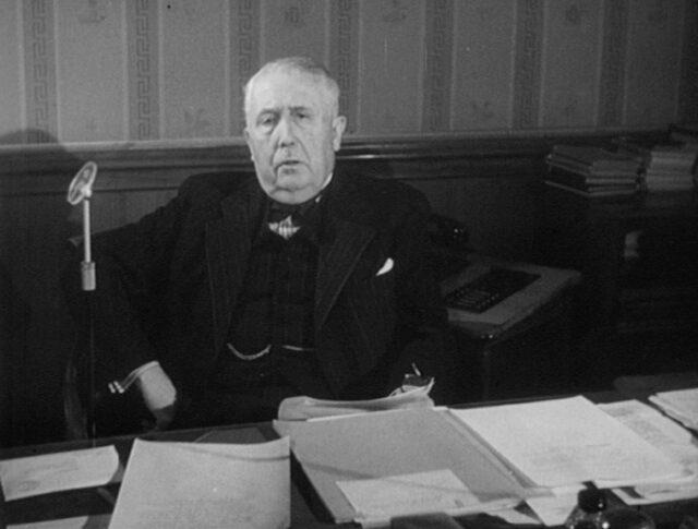 Les vœux de bonne année de M. Edouard de Steiger, Président de la Confédération pour 1951 (0459-3)