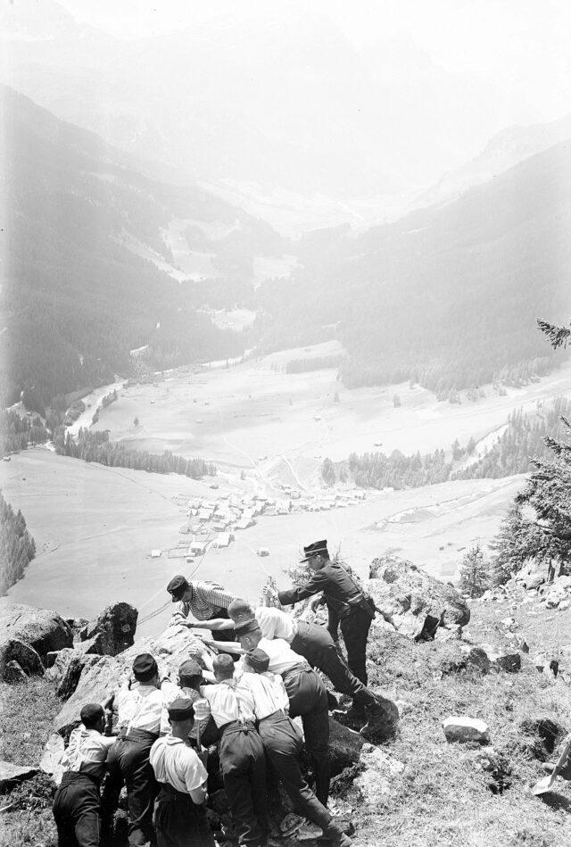 Freimachen des Schussfeldes ins Rheinwaldtal