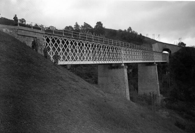 Tunnel und Brücke von Châtelard