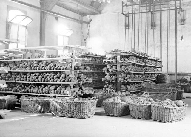 Der Brotvorrat einer Bäckerkompanie