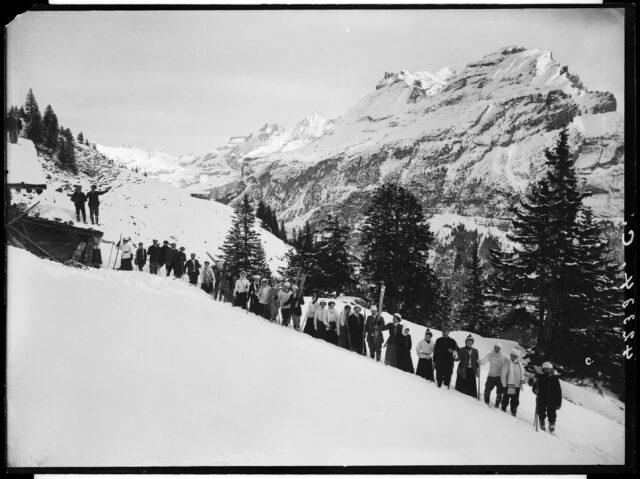 Kandersteg; Fisistock -- Sport; Skifahren; Alpinismus; Tourismus; Winter