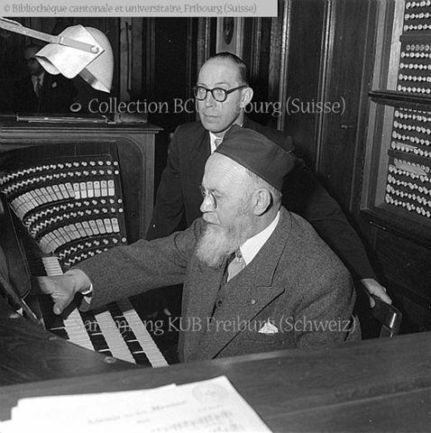 Fribourg, Bourg, Cathédrale Saint-Nicolas: Joseph Gogniat (1881-1954), organiste