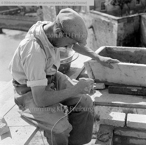 Fribourg: ouvrier du bâtiment: maçon