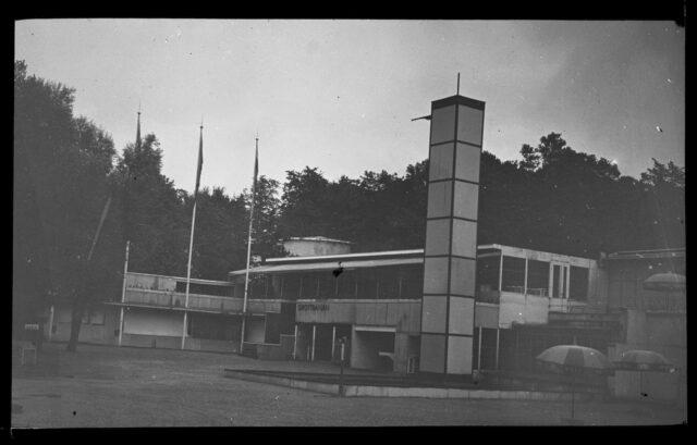 Vue extérieure de l'exposition de design et d'artisanat de Stockholm de 1930