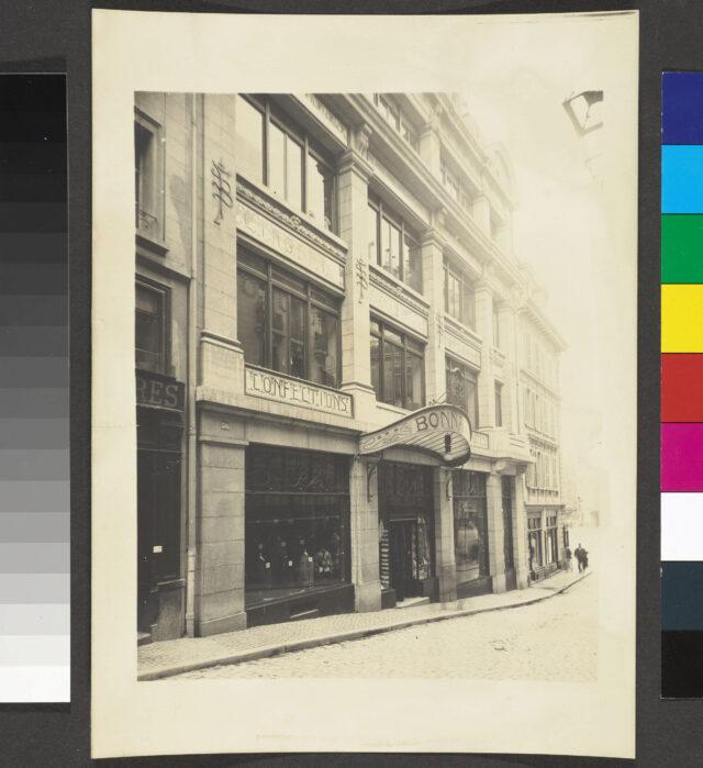 Vue extérieure du magasin Bonnard à Lausanne