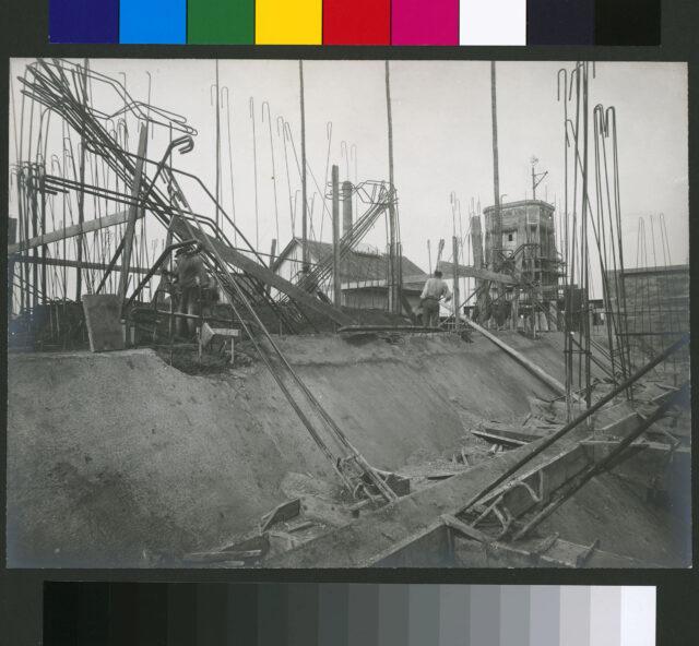 Vue du chantier de l'usine à gaz de Malley près de Lausanne