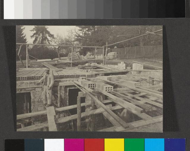 Vue du chantier Huber à Lausanne