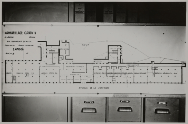 Genève, avenue de la Jonction : plan de l'usine Gardy