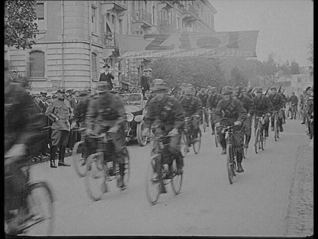 12. Schweiz. Militär-Radfahrertag in St. Gallen 1925.