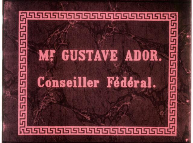 Mr. Gustave Ador, conseiller fédéral de retour à Genève après l'élection