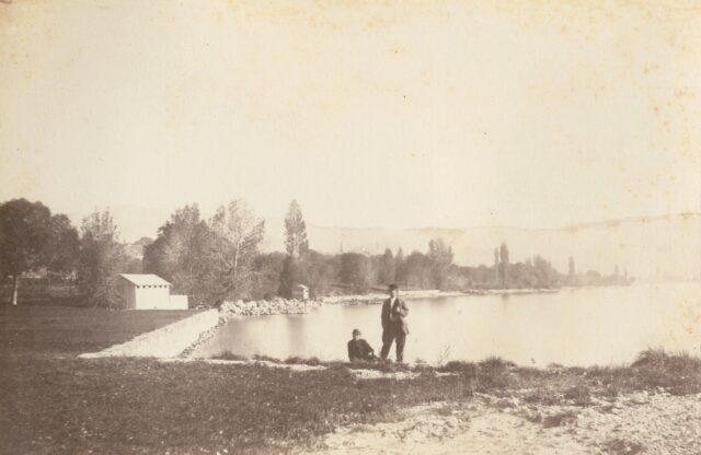 Sous Cour, Lausanne [Am Ufer des Genfersees, westlich von Ouchy], 1860er Jahre
