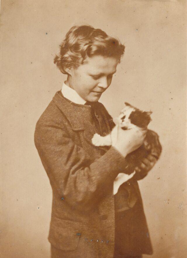 Aloÿs mit Katze, 1860er Jahre