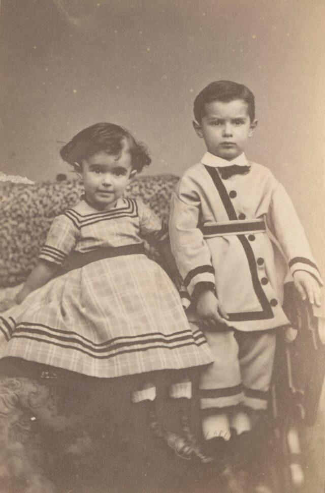 Zwei Kinder, 1860er Jahre