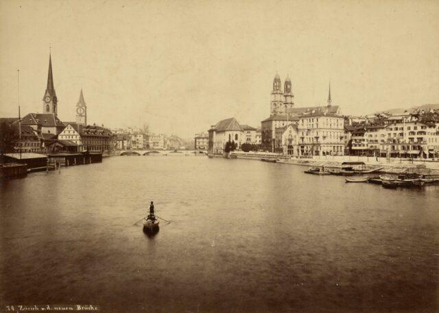 Zürich von der neuen Brücke, 1880–1897