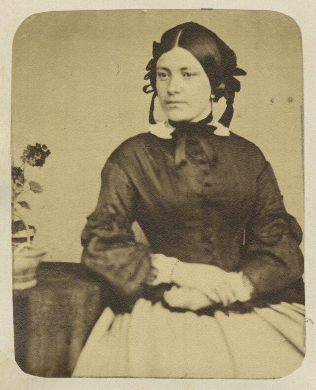 Porträt einer Frau, um 1860