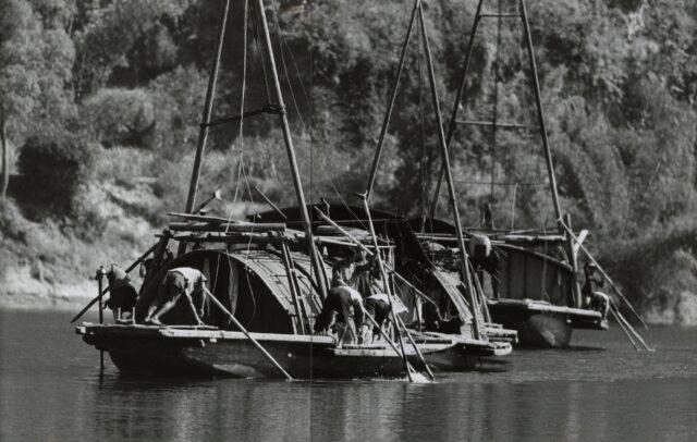 Dschunken auf dem Likiang, China, 1964/65