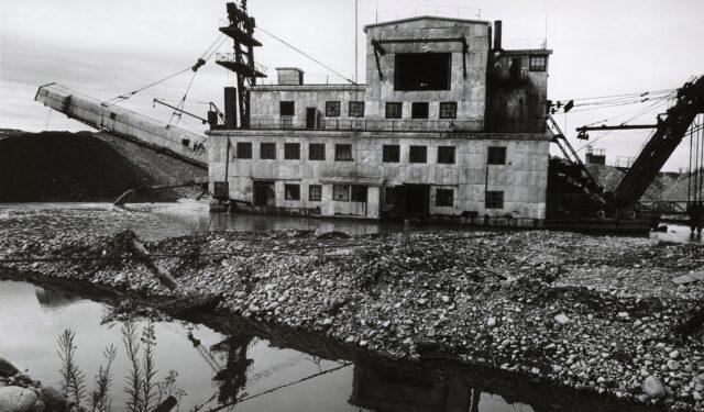 """""""Draga"""", Goldgewinnungsanlage an der Indigirka, Sibirien, um 1968"""
