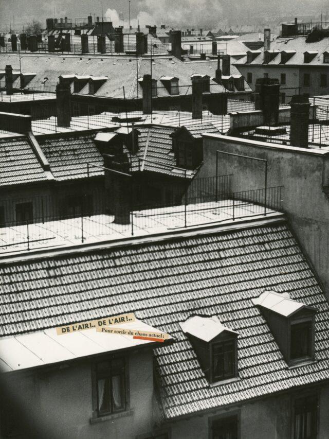 """""""De l'air!..De l'air!.. Pour sortir du chaos actuel"""", Montage, 1930er Jahre"""