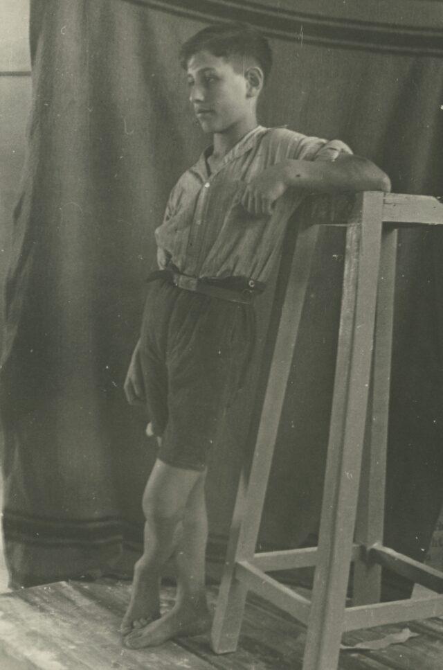 Guerino im Atelier, um 1935
