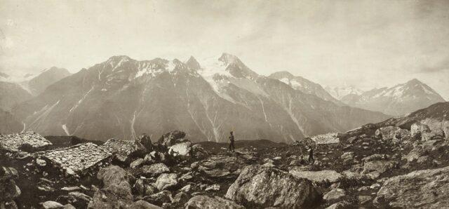 Der Oberalpstock von Norden, 1860er Jahre