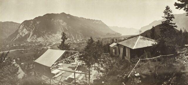 Interlaken von der Heimwehfluh aus, 1860er Jahre