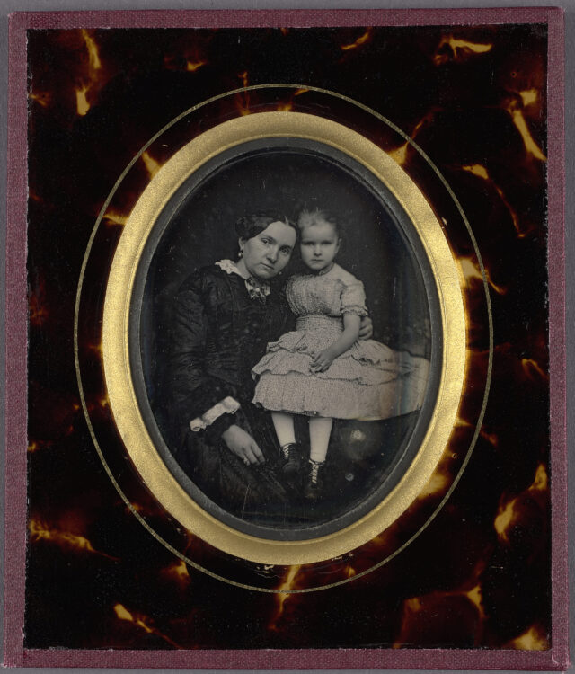 Frau und Mädchen, ca. 1840-1860