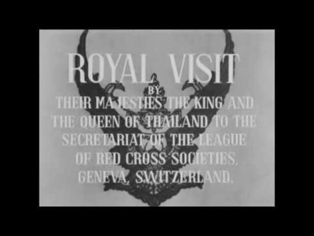 Royal visit by their majesties the King and Queen of Thailand to the Sescretariat of the League of Red Cross Societies, Geneva, Switzerland