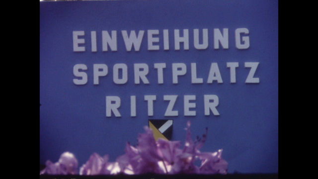 Einweihung Sportplatz Ritzer