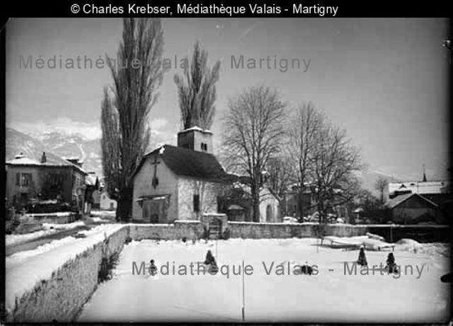 [Eglise de Notre-Dame-des-Marais en hiver, Sierre]