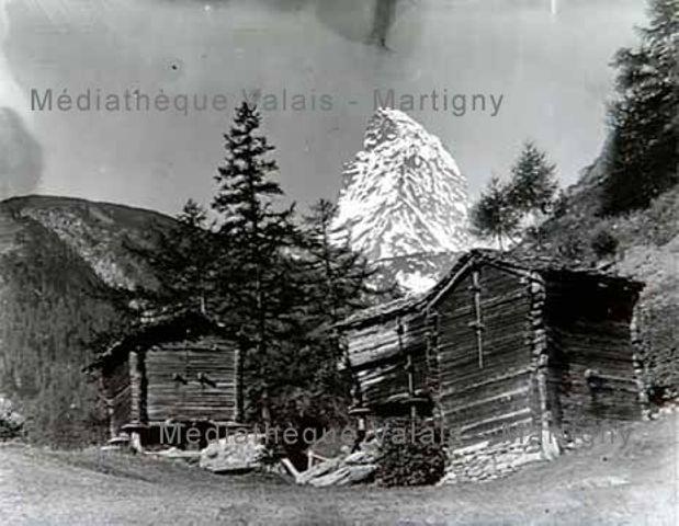 [Raccard et vue sur le Cervin, région de Zermatt]