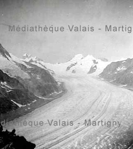 [Glacier vu du sommet de l'Eggishorn, Vallée de Conches]