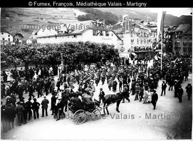 Souvenir du tir cantonal valaisan, Monthey 21-29 juin 1903